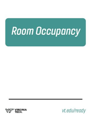 "printable poster that reads, ""room occupancy"""