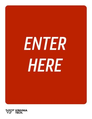 "printable poster that reads, ""enter here"""
