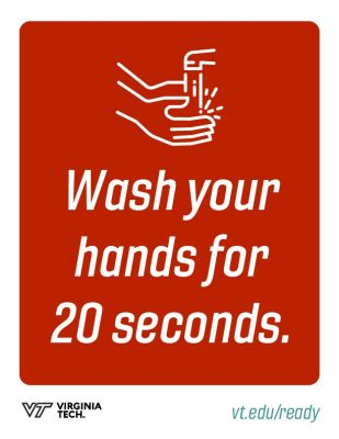 "printable poster that reads, ""wash your hands for 20 seconds"""