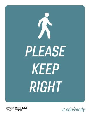 "Printable poster that reads, ""please keep right"""