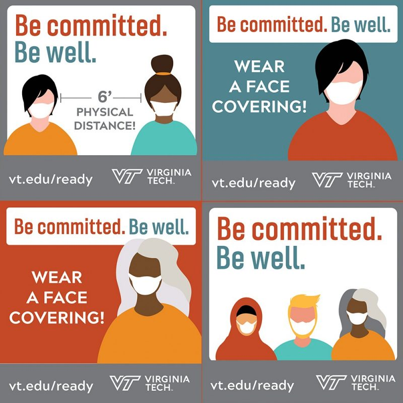 digital design that outlines tenets of 'Be Well. Be Committed' campaign