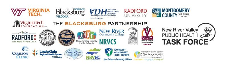 Several logos representing sponsorship of the wellness commitment